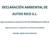 Declaración medioambiental